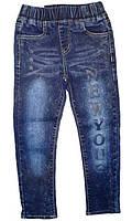 Осенние джинсы-варенки для девочек на резинке 98,104,110,116,122,128р.