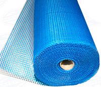 Щелочестойкая стекловолоконная сетка для армирования гидроизолирующих составов FIBERGLASS 160 синя (50 м2)