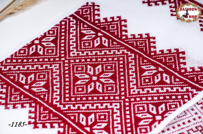 Вышитый красный рушник Талант, фото 2