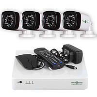 Комплект системи відеонагляду Green Vision GV-K-L04/04
