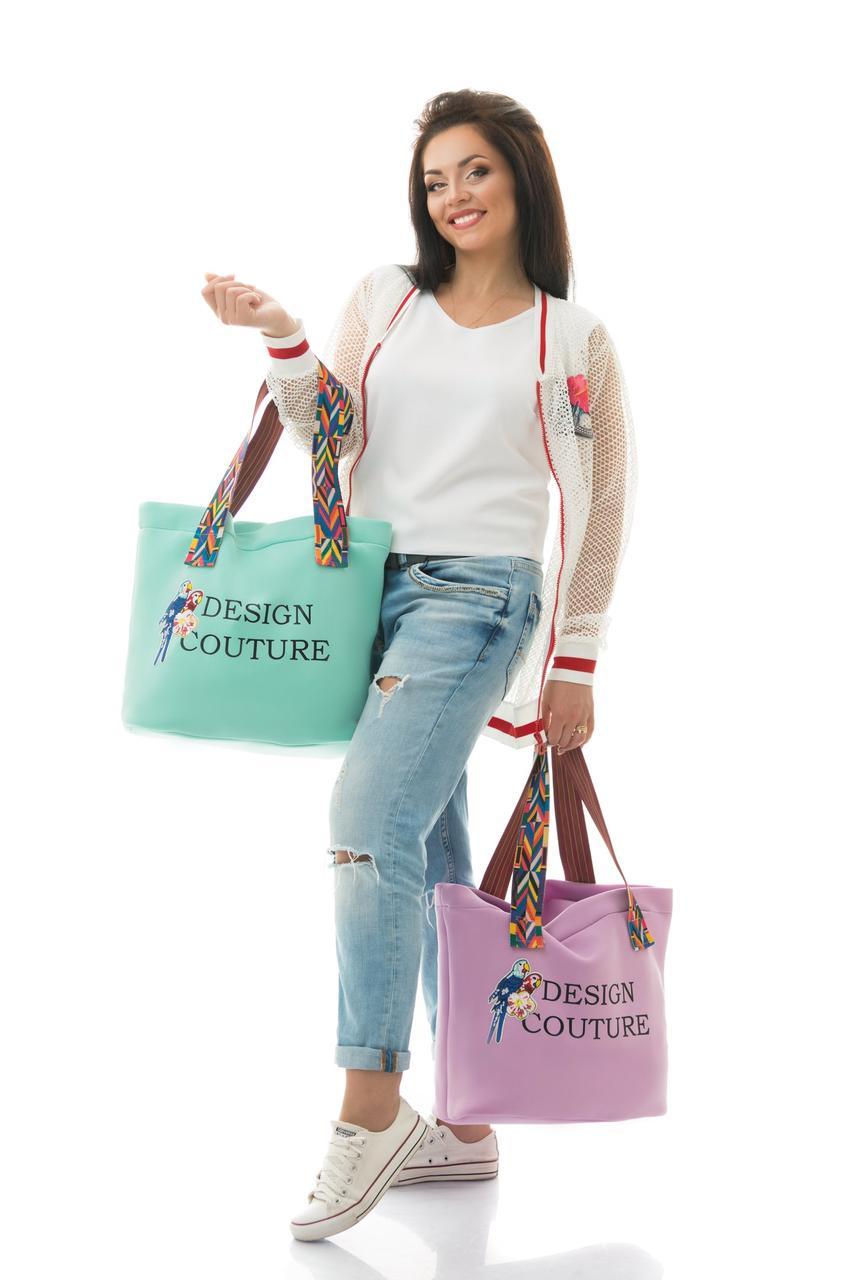 """Стильная женская сумка из неопрена """"Design Couture"""" с вышивкой и пайетками (3 цвета) - Интернет-магазин """"DioModa"""" в Одессе"""