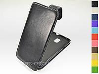 Откидной чехол из натуральной кожи для Samsung N910 Note 4