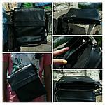 Сумка чоловіча JakS, 27*24*6 см, чорний, фото 7