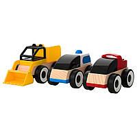 Деревянные детские игрушки Грузовики, разные цвета цена за набор