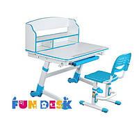 Детская растущая парта для дома FunDesk Volare II Blue + Детский стул SST3 Blue