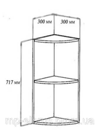 Шкаф верхний завершающий открытый, фото 2