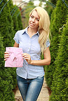 Рубашка женская в полоску стильная размеры 42-54