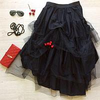 Итальянская черная юбка из фатина от ТМ LJVE