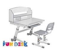 Детская растущая парта для дома FunDesk Volare II Grey + Детский стул SST3 Grey