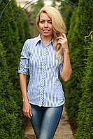 Рубашка женская в полоску модная размеры 42-54
