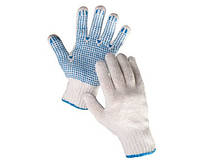 Рабочие трикотажные перчатки с ПВХ точкой