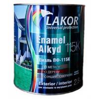 Эмаль Лакор ПФ-115 К Зеленая 0,9кг.