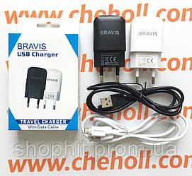 Сетевое зарядное устройство 2 в 1 для Bravis A506 CRYSTAL оригинал