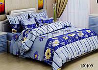 Ромашка синяя Комплект постельного белья