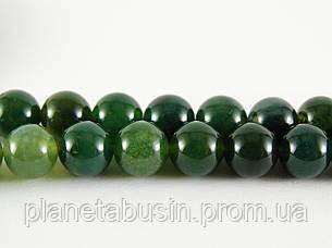 8 мм Моховый Агат, CN195 Натуральный камень, Форма: Шар, Отверстие: 1мм, кол-во: 47-48 шт/нить, фото 2