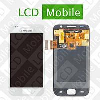 Дисплей для Samsung Galaxy S I9000, Galaxy S Plus I9001 с сенсорным экраном, белый, модуль, дисплей + тачскрин