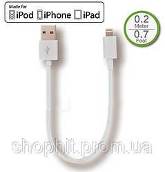 Кабель USB для iPhone 5 5S SE 6 6S 7 8 / iPad 2 3 4 Air / iPad min для подключения Power Bank - 0.2 м.