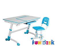 Детская парта-трансформер FunDesk Amare Blue + Детский стул SST3 Blue
