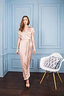 Шелковое платье с вышивкой
