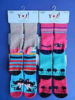 """Носки (23-24 размер, 13-14 см) махровые для девочек """"YO SCORPIO"""" СЕЛИКОНОВАЯ ПОДОШВА  ПОЛЬША"""