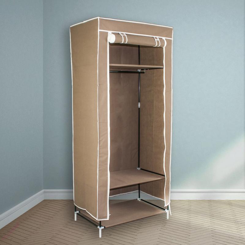 Тканевый шкаф для одежды1 секция (черный,бежевый,бордовый,серый, синий)