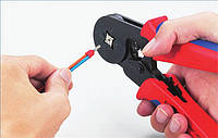 Обжимні лещата для кабельних кінцевиків 0.25..6мм