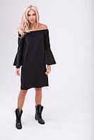 Платье свободного кроя чёрного цвета