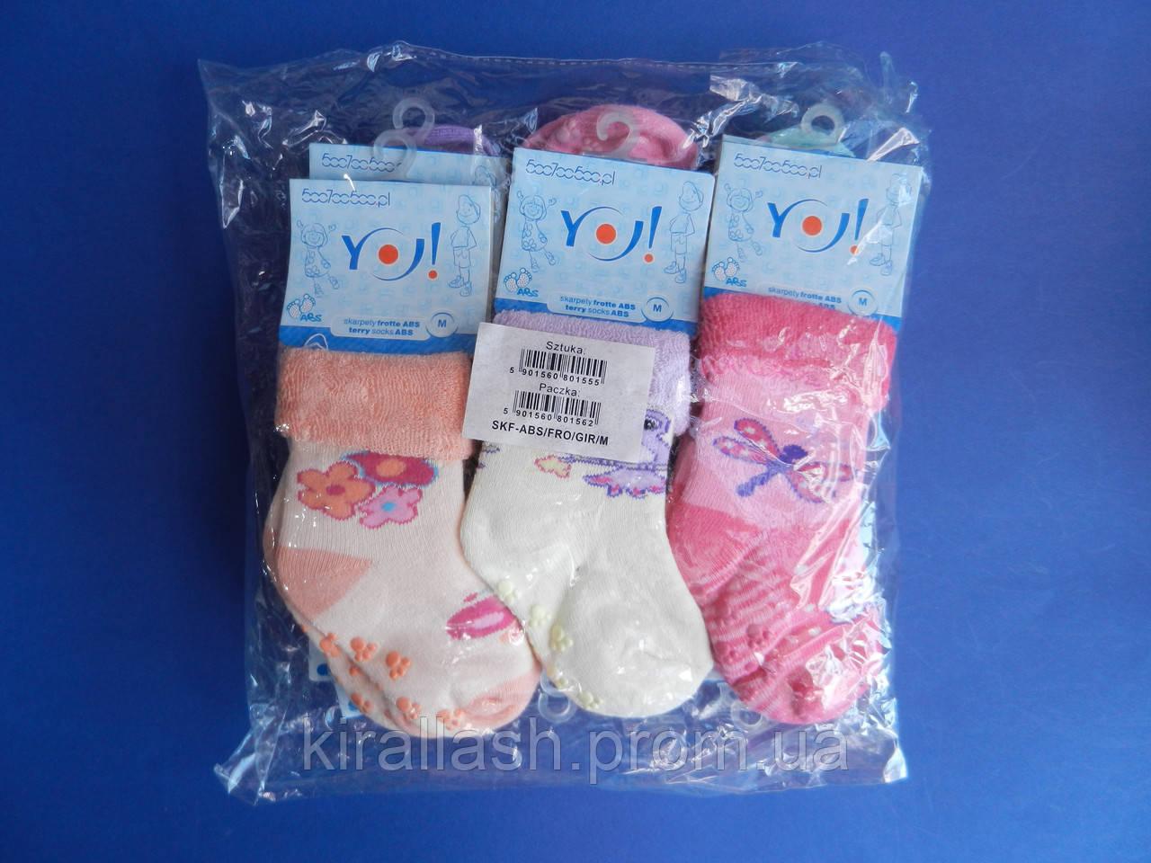 """Носки (S 19-20 см) махровые для девочек """"YO SCORPIO"""" С ТОРМОЗАМИ   ПОЛЬША"""