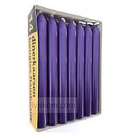 Свеча пасхальная столовая фиолетовая 20х200мм (1шт)
