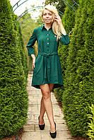 Платье женское с поясом модное размеры 40-48