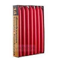 Свеча столовая красная 20х200мм (1 шт)