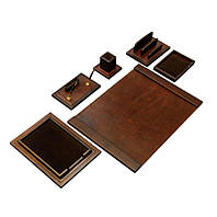 Элитный настольный набор для руководителя V.I.P. MARRON 760007 70*50*2 см коричневый
