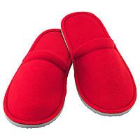Тапочки домашние красные