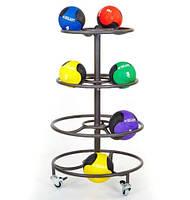 Подставка(стойка) круглая для хранения медболов(4 яруса) J2006