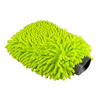 """Микрофибровая варежка с длинным ворсом премиум класса """"Улица Сезам"""" зеленого цвета, 17.7х22.8 см MIC_493"""