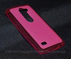Чехол LG Y50/H324 Leon розовый