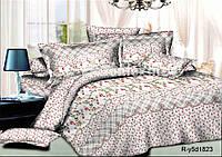 Комплект постельного белья  полуторный в мелкие цветочки