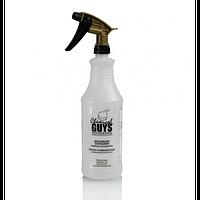 Профессиональная кислотостойкая повышенной прочности емкость (бутылка) с черно-золотым триггером ACC_136