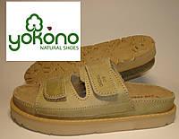Шлепанцы женские кожаные Yokono (090)