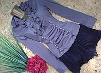 Блузка+пояс Рита  10382 капучино 42-48р
