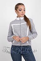 Женская трикотажная курточка на меховой основе