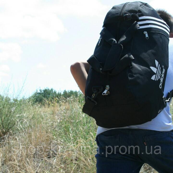 Сумка рюкзак дорожная Турист, реплика, 25*54*30, черный
