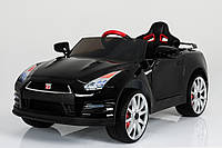 Эл-мобиль T-797 Nissan GT-R BLACK легковая на р.у. 12V7AH мотор 235W с MP3 1216136 ш.к.
