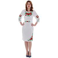 """Платье женское """"Маковая роса"""" белое 46"""