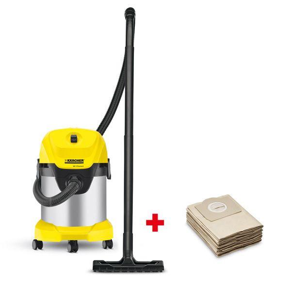 Пылесос сухой и влажной уборки Karcher WD 3 Premium + фильтр-мешки