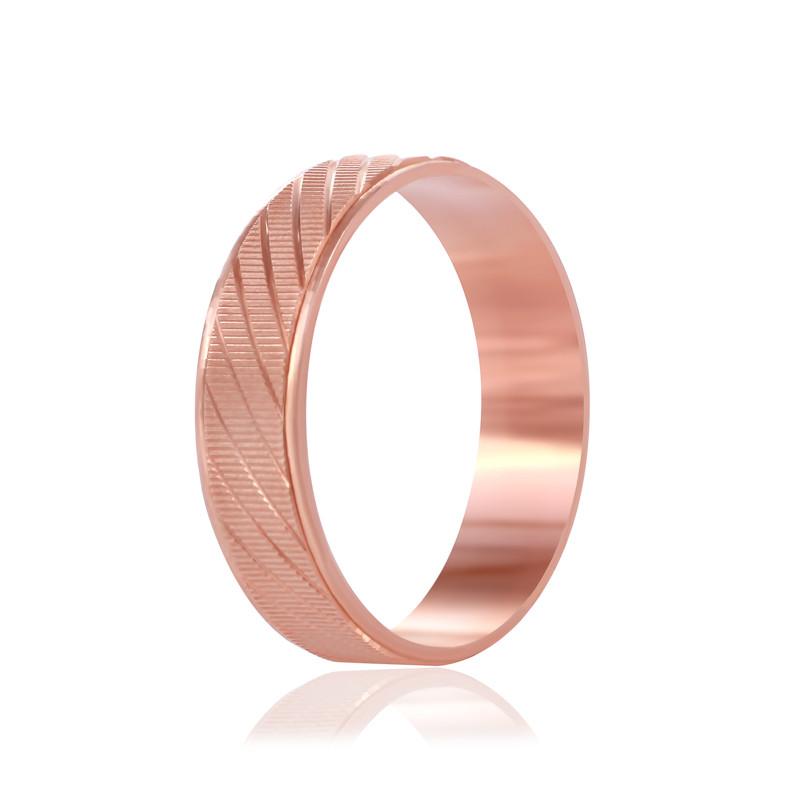 """Обручальное серебряное кольцо с позолотой """"807"""""""