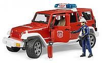 Bruder Джип Пожарный Wrangler Unlimited Rubicon + фигурка пожарника, М1:16