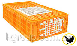 Ящик для перевозки живой птицы 770х580х270 мм двухдверный