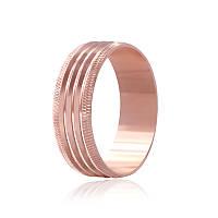 """Обручальное серебряное кольцо с позолотой """"813"""""""