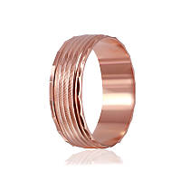 """Обручальное серебряное кольцо с позолотой """"814"""""""